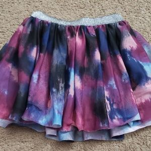 Girls layered multicolor skirt size 6x